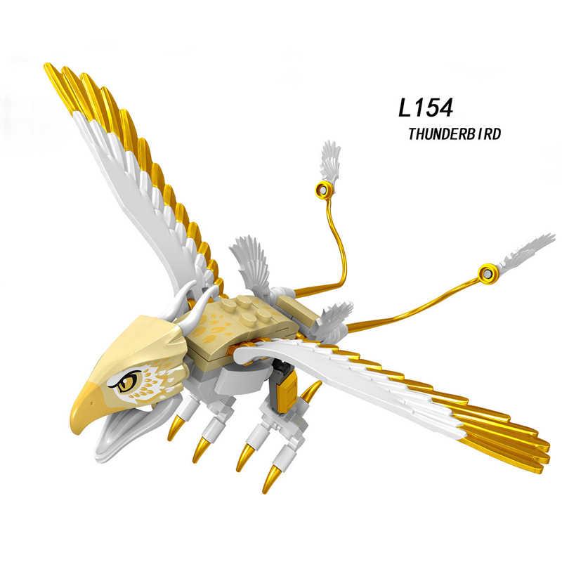 Legoing Animale Mattoni Cifre Lupo Nightingale Mammut Thunderbird Tigre Giocattoli Blocchi di Costruzione Del Giocattolo per I Bambini Legoing Block Set