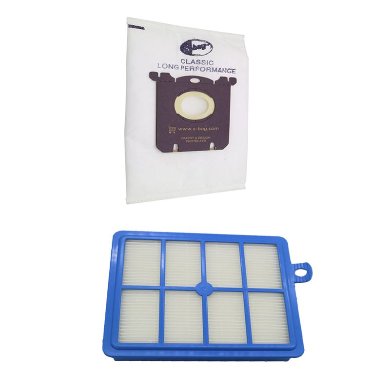 12pcs/set 2 Replacement hepa filter 10pcs Dust Bags for Electrolux Vacuum Cleaner electrolux and S-BAG
