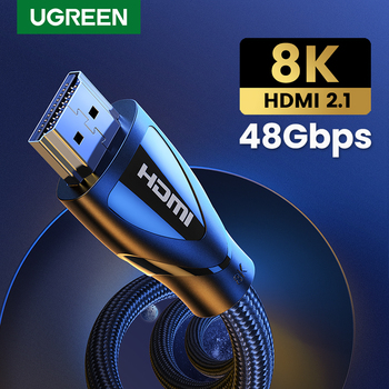 Ugreen HDMI Cable HDMI 2.1 Cable 8K@60Hz 4K@120Hz Ultra High-Speed 48Gbps for Apple TV PS4 8K TV Digital Cables HDR10+ HDMI 2.1