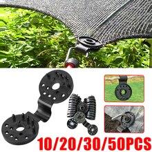 10/50pcs Sunshade Net Clip Garden Tools Greenhouse Shade Cloth Fix Clamp Plastic Grommet Fence Netting Installation Hook