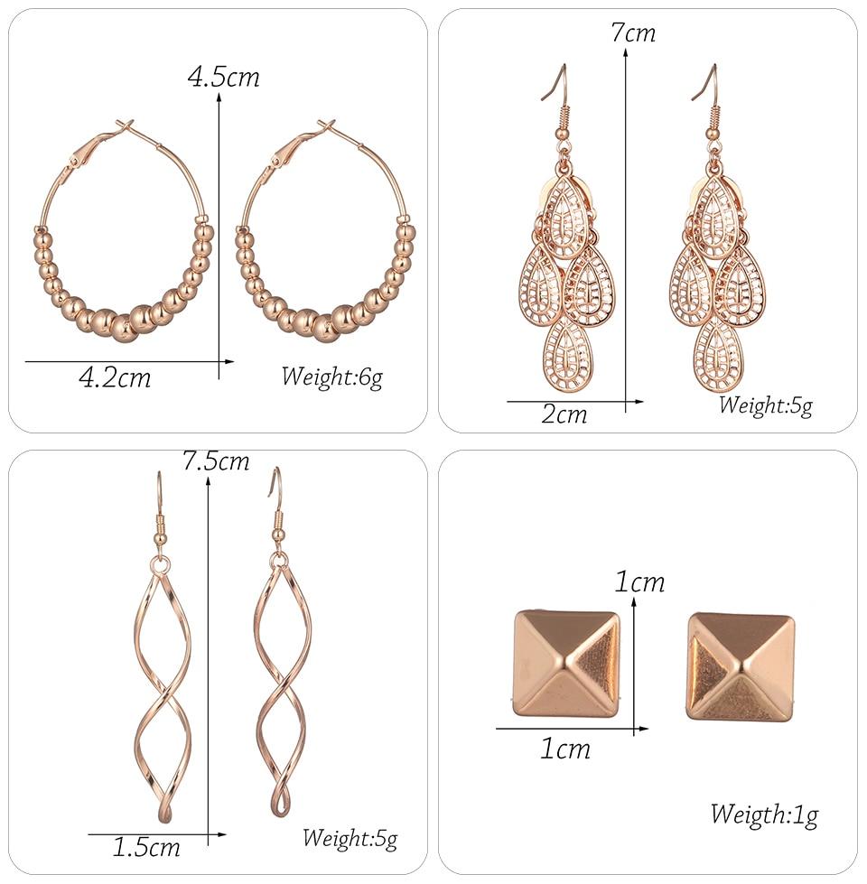 Bohemia Silver Earrings Set Vintage Ethnic Long Round Leaf Tassel Wedding Water Drop Earrings for Women Girls Statement Jewelry (1-1) (14)