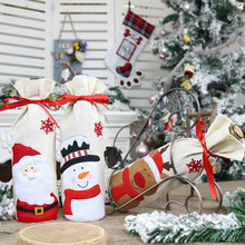 Christmas Decorations for Home Santa Claus Wine Bottle Cover Snowman Stocking Xmas Navidad Decor New Year набор восковых треугольных карандашей 15 цветов