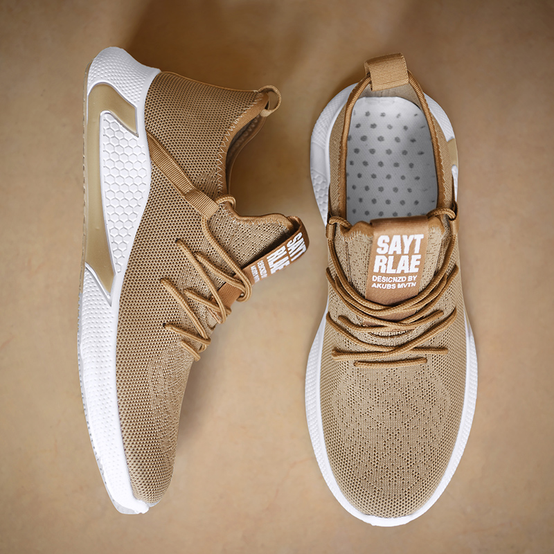 2019 New Men Shoes  Breathable Men Sneakers Zapatillas Hombre Flyknit High Quality Men Casual Shoes