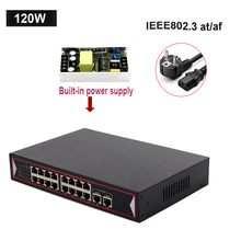 48V POE Switch Ethernet 6 16 Ports Network 10/100Mbps Ports IEEE 802.3 AF/AT IP Camera Wireless AP Uplink Network Switch