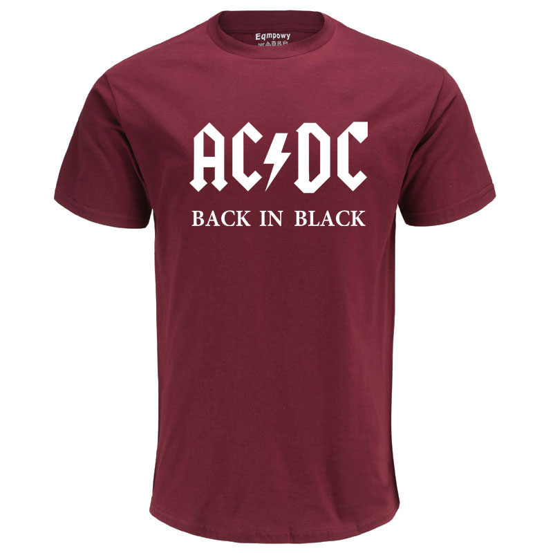 2020 Camisetas AC DC Heavy Metal Rock Band T Shirt Men Acdc T-Shirts Print Casual Tshirt Hip Hop Short Sleeve Cotton Top C106