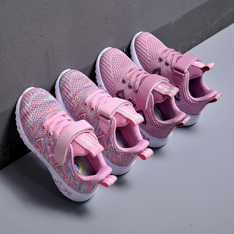 Girls Breathable Pink Sports Shoes 5