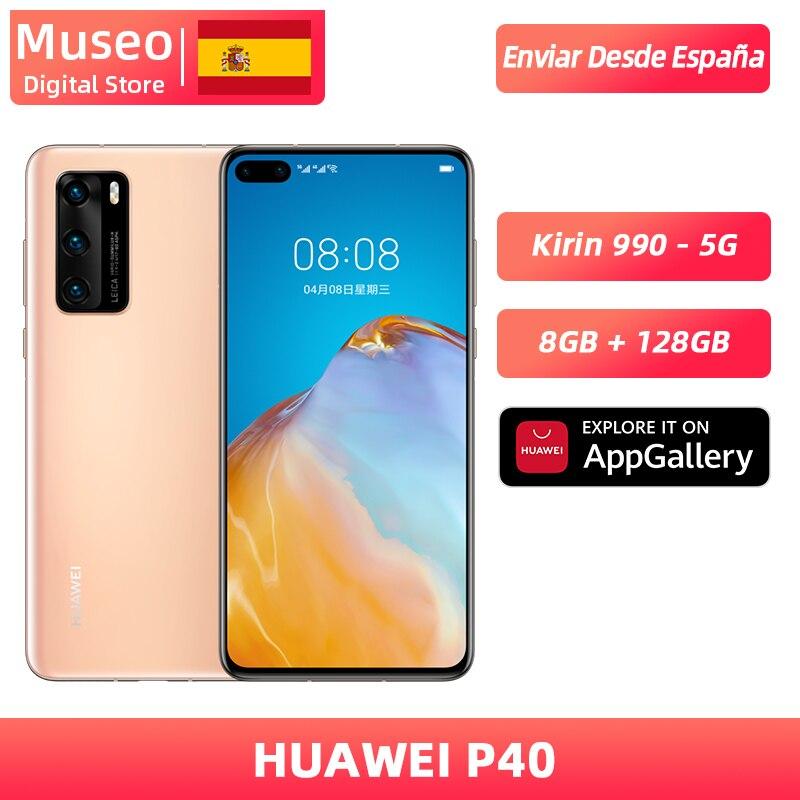Globalna wersja Huawei P40 5G Smartphone Kirin 990 8GB 128GB 50MP kamera trzykrotnie 6.1 'Android 10 22.5W SuperCharge NFC