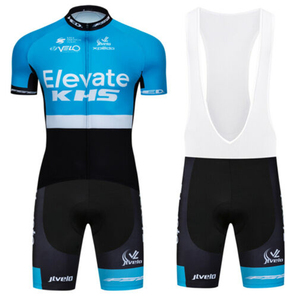 Elevate khs team cycling jersey suit mens summer mtb bike clothing set Uniforme Bicycle bib shorts kit ciclismo hombre GOBIKING
