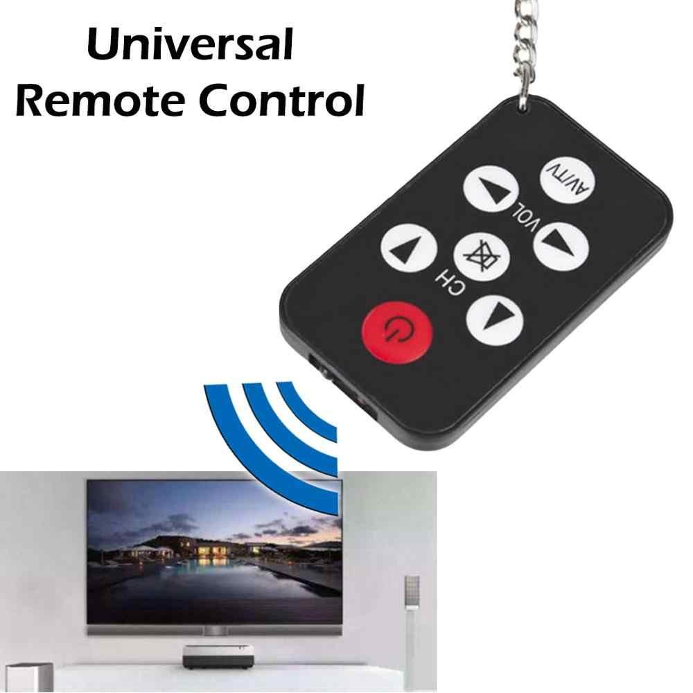 Mini evrensel Ultra ince kızılötesi IR TV seti 7 tuşları televizyon uzaktan kumanda kontrolörü anahtarlık Sony Panasonic Toshiba LO