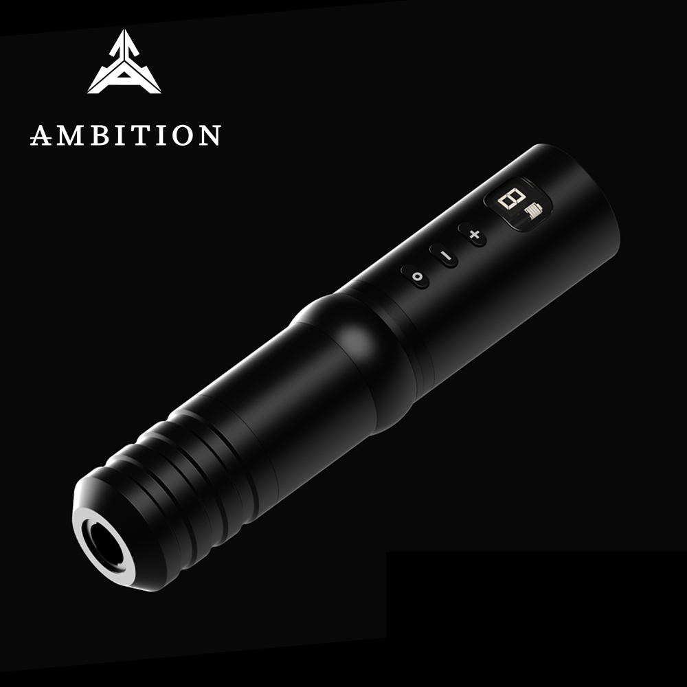 Ambition Revolutionary Wireless Rotary Tattoo Pen Machine Power Supply Built-in 4 Batteries Professional Tattoo Gun For Master