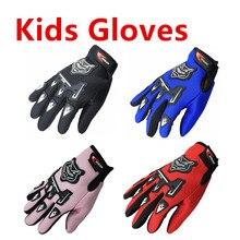 Gants de Moto en cuir pour enfants, gants de course pour enfants, Luvas Motocross, été