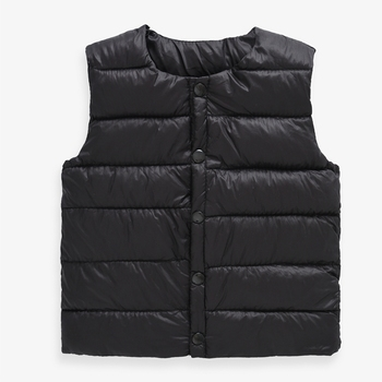 Sundae Angel Kids Vest For Boys Solid Round Collar Soft Warm Down Vest Girl Sleeveless Children Winter Waistcoat For 1-6 Y 1