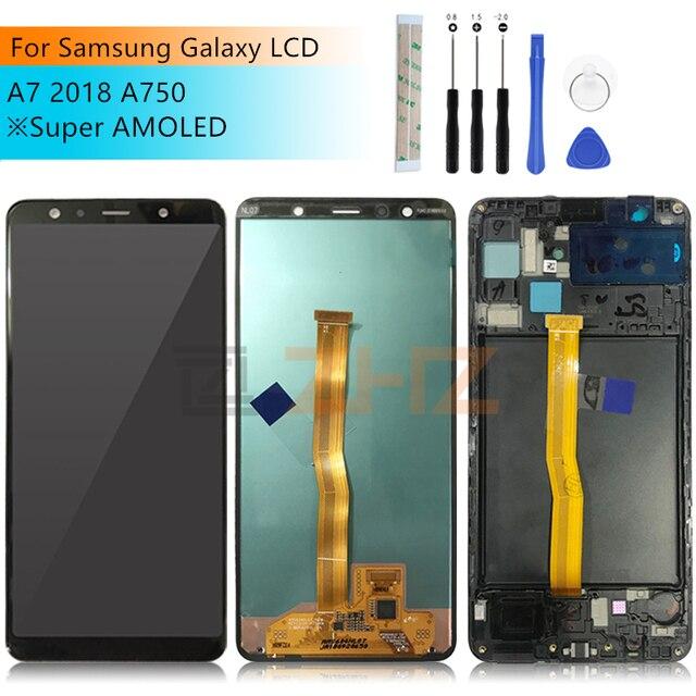Dành Cho Samsung Galaxy Samsung Galaxy A7 2018 Màn Hình LCD Hiển Thị Bộ Số Hóa Cảm Ứng SM A750F A750F A750 LCD A7 2018 Chi Tiết Sửa Chữa