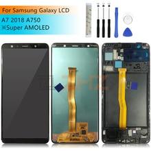 Do Samsung Galaxy A7 2018 wyświetlacz LCD z ekranem dotykowym Digitizer zgromadzenie SM A750F A750F A750 lcd a7 2018 części naprawa