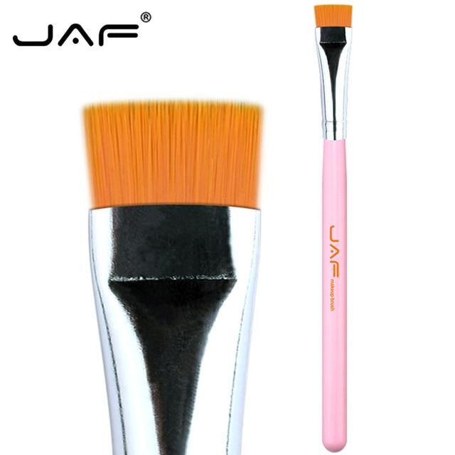 JAF 1 PCS Eye Makeup Brush Flat Eyeliner Eyebrow Blending Beauty Make Up Brush Soft Nylon Hair 3 Colors for Choose 07SHYE 2