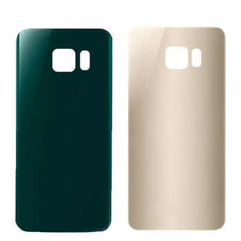 For SAMSUNG Galaxy S6 Edge Back Battery Glass Cover Rear Housing Glass Door Case For SAMSUNG S6 Edge Battery Cover+Adhesive Tape kinston full body cover case for samsung galaxy s6 edge