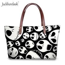 Women Handbag Purse-Set Skellington Skull Jackherelook-Jack Shoulder Nightmare Gothic
