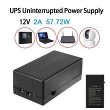 57.72w 2a 12v segurança em espera fonte de alimentação ups ininterrupto backup fonte de alimentação mini bateria para câmera roteador