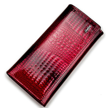 Luxury Genuine Leather Women Purse Wallets Real Alligator Bag Female Design Clutch Long Multifunctional Coin Card Holder Purses