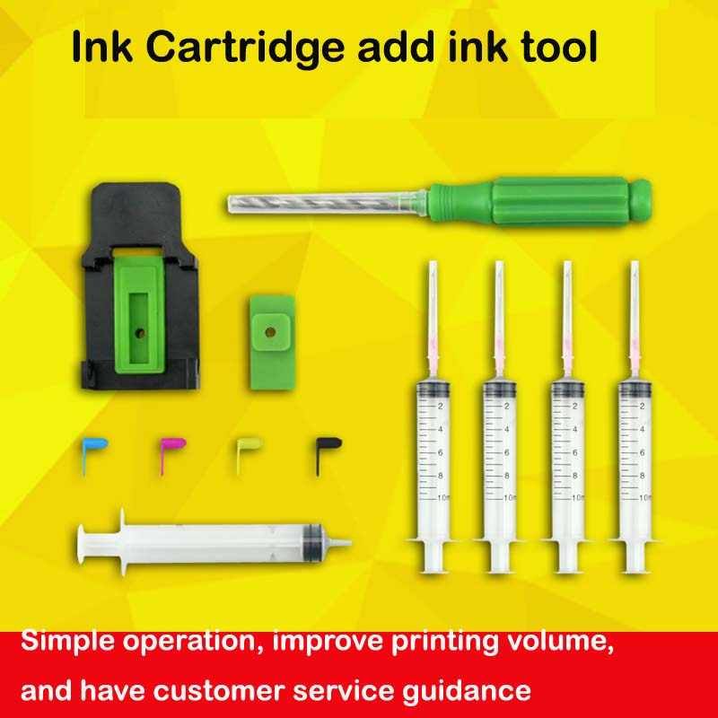 Tinta Isi Ulang Smart Cartridge Smart Clamp Penyerapan Clamp Memompa Karet Pad Jarum Suntik Punch Alat Menambahkan Tinta Kit Alat untuk HP canon