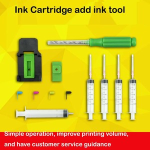 Ink Refill Smart Cartridge Smart Clamp Absorption Clamp Pumping Rubber Pad Syringe Punch Tool Add Ink Kit Tool for HP CANON