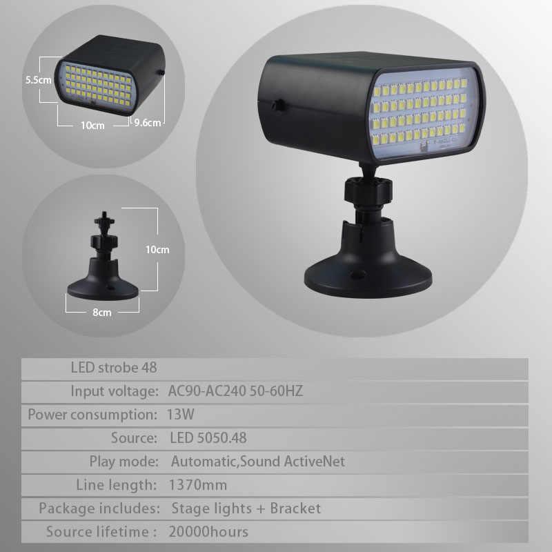 Terbaru SMD 5050 LED Mini Tahap Lampu Strobo 48 LED Strobo Flash Lampu Otomatis/Suara Aktif Mode untuk KTV klub Pesta DJ Disko