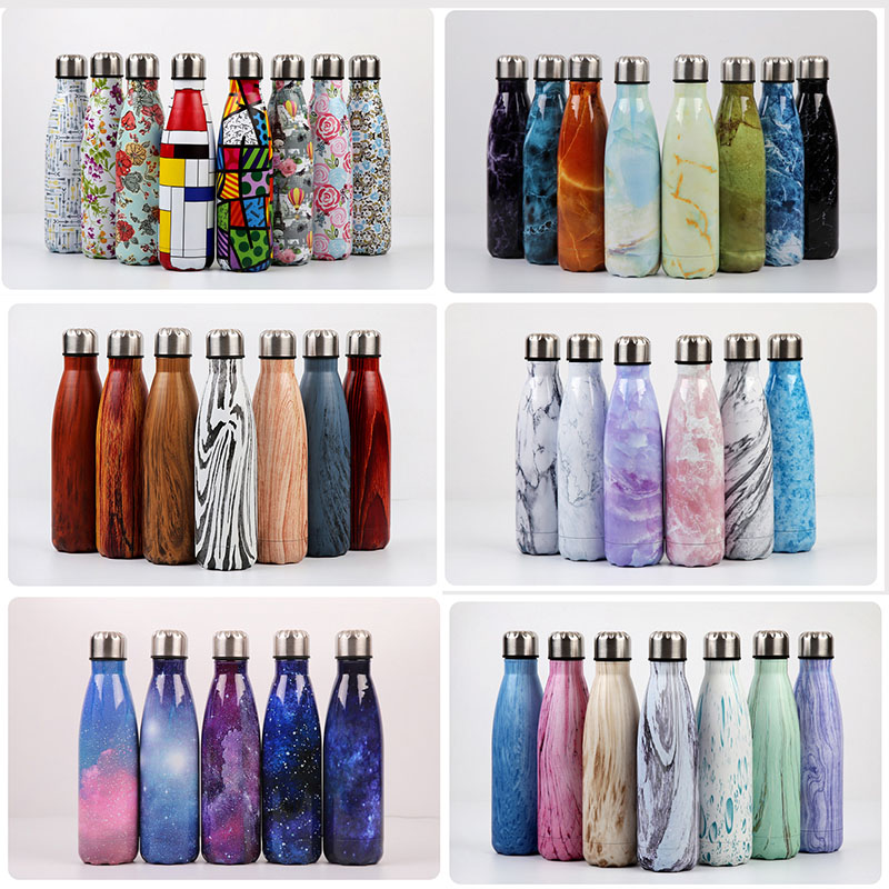 500ML Starry Sky Cola Water Beer Hot Cold Thermos Insulated Vacuum Flask Stainless Steel Water Bottle for Sport Drinking Bottle image