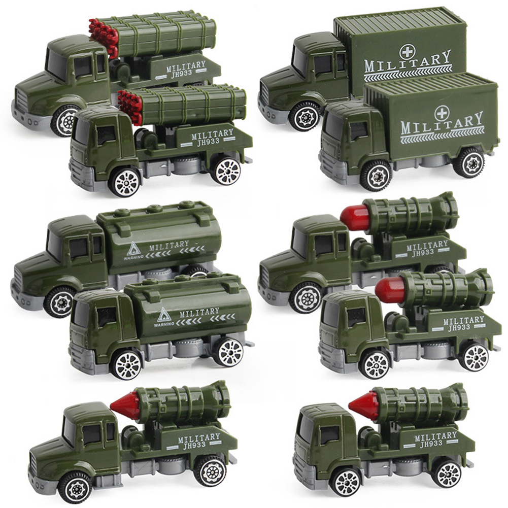 5Pcs/Set Diecast Alloy Military Vehicles Car Inertia Toy Educational Kids Toy