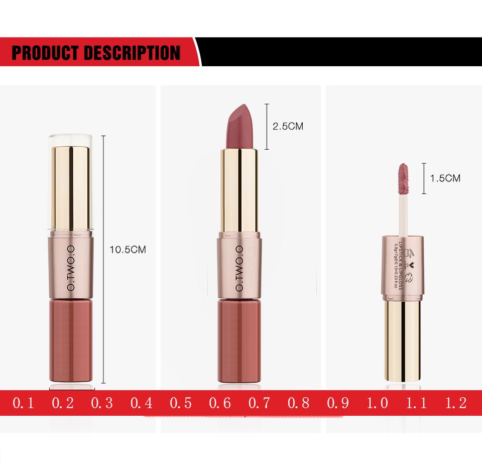 Product Description O.TWO.O Lipstick & Lipgloss