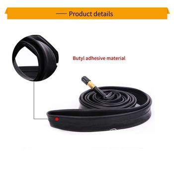 1 Pcs Bike Inner Tube For Mountain Road Bike Tyre Butyl high Bicycle Tube Rubber temperature Tube resist Valve Butyl Rubber C0U0 image