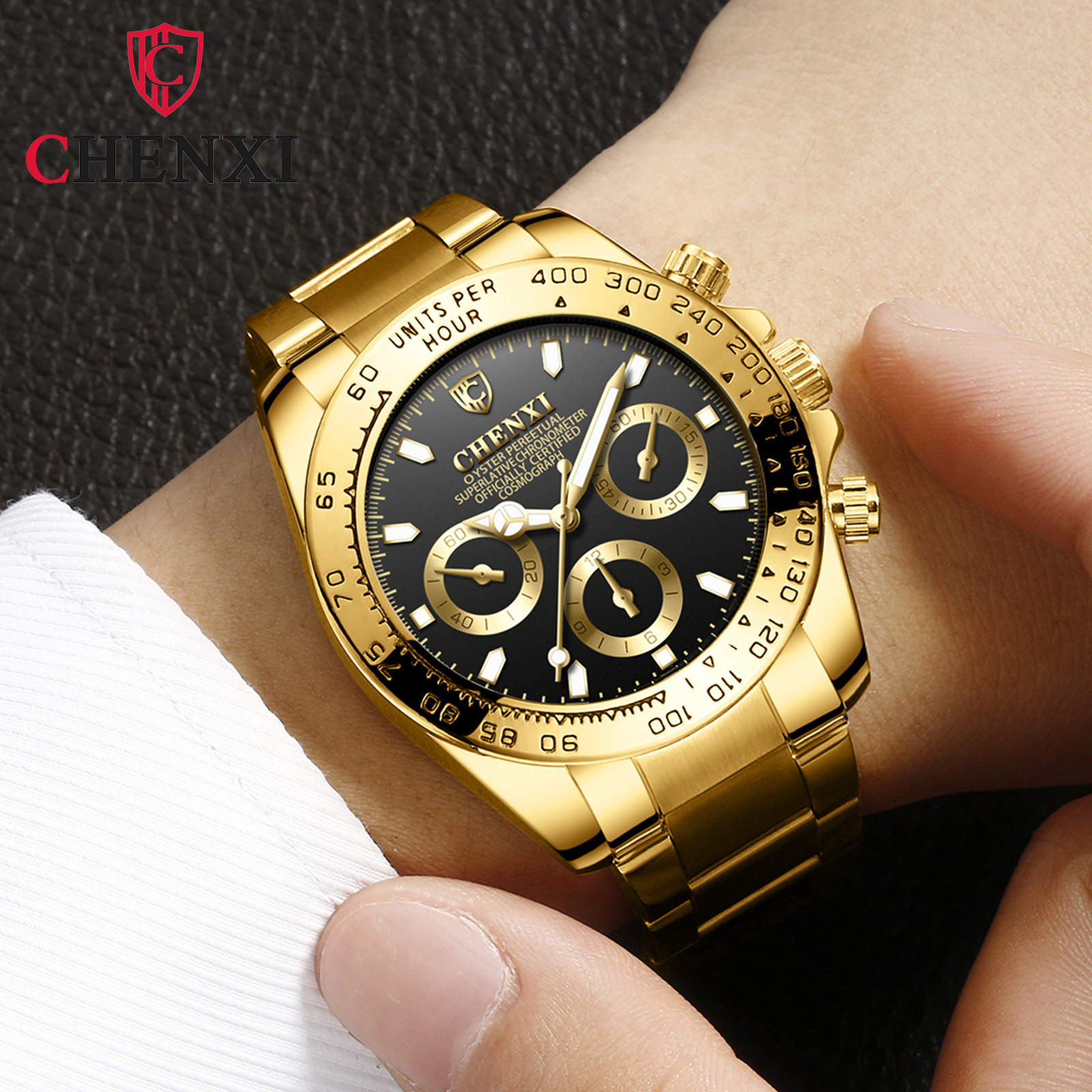 Luxury Brand Men Rolexable Waterproof Watch Stainless Steel Strap Quartz Bracelet for Man Large Dial Watches Relogio Masculino 1
