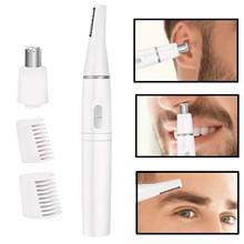 Мужской триммер для волос в носу 2 в 1, профессиональный безболезненный триммер для бровей, электрическая бритва для удаления волос на лице д...