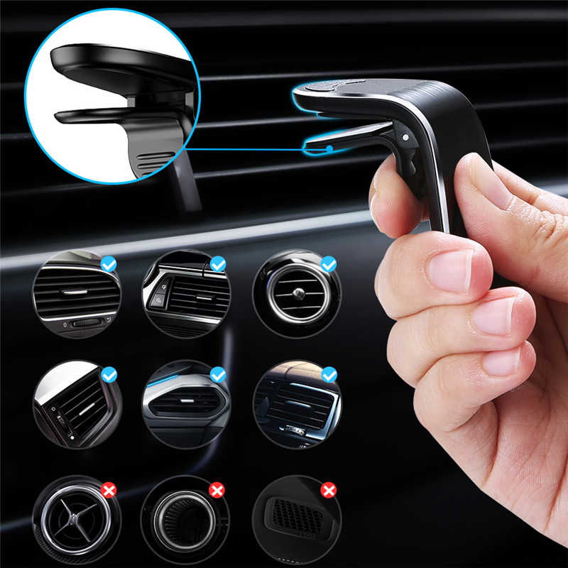 Support de téléphone magnétique pour voiture en métal pour Mercedes Benz W203 W211 CLK C180 E200 AMG C E S Class