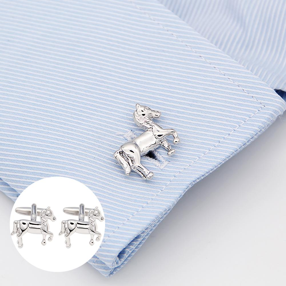 Fashion Men Cuff Link Cute Horse Design Shirt Suit Cuff Link Cuff Button Party Wedding Business Cufflinks Fashion Jewelry