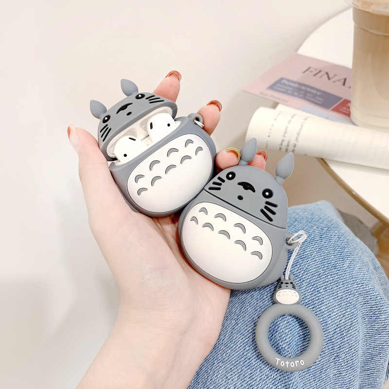 Creative Japanese Korean AirPods Protective Case for Apple Bluetooth Headset AirPods 2 Case Silica Gel Cute