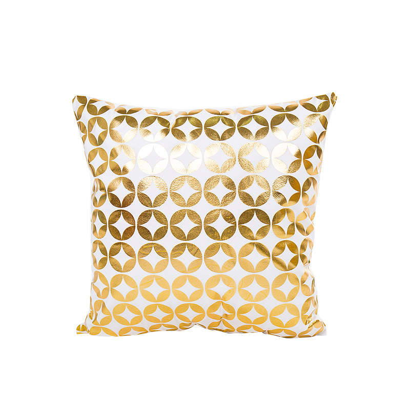 Geometric luxury yellow golden cushion cover no inner hot stamping kussens woondecoratie covers for home dec X25