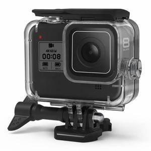 Image 1 - 60m Custodia Borsette Per GoPro HERO 8 Nero Duro di Protezione Gabbia Custodia Per Go Pro Hero8 2019 Macchina Fotografica di sport accessori