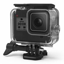 Carcasa de 60m para GoPro HERO 8, funda protectora rígida negra para Go Pro Hero8 2019, accesorios para Cámaras Deportivas