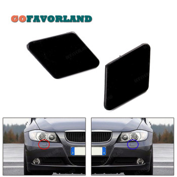 Left Right Front Bumper Headlight Washer Cover Cap Unpainted 61678031307 61678031308 For BMW E90 E91 320i 325i 330i 2005 2008 image
