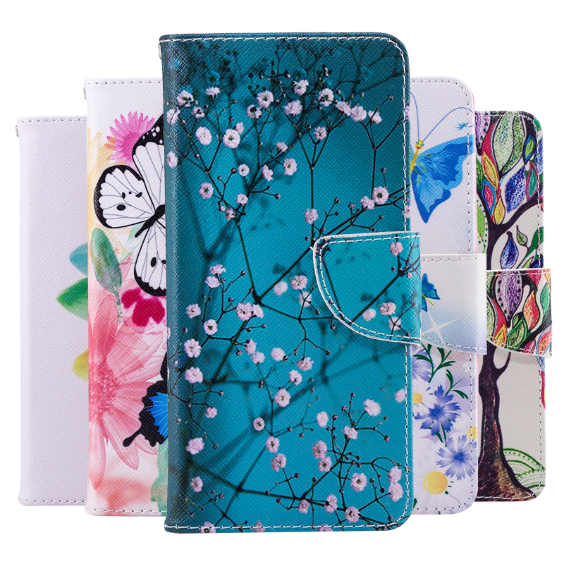 Butterfly PU Leather Flip Case For V30 V20 Stylo 5 4 Q8 Q6 K50 K40 K8 K5 K4 K3 K10 2018 2017 G7 G6 Minu Case Wallet Cover Coque in Flip Cases from Cellphones Telecommunications