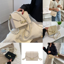 Square Bag Shoulder-Bag Crossbody-Bag Small Female Summer New-Fashion Pearl-Chain Foreign-Style
