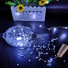 Fairy Lights LED Garland Silver Wire Wedding Decoration Corker String for Glass Craft Bottle New Year/Christmas/Valentines(China)