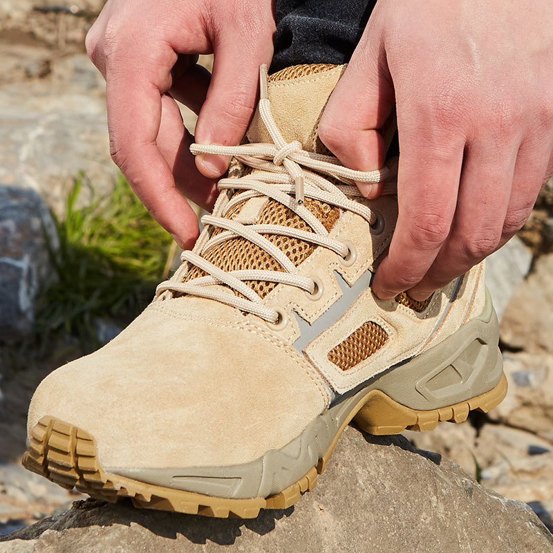 Fire Sandy Color Low Top Combat Boots Combat Boots Desert Boots Special Forces 511 Boots Outdoor