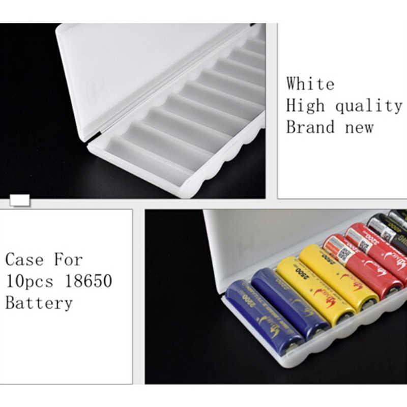 1 unidad de 10X18650 estuche para pilas 18650 soporte para caja de almacenamiento estuche rígido blanco estuche para pilas contenedor organizador