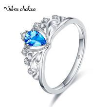 Корона кольца в форме сердец для Для женщин Стерлинговое Серебряные