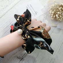 Korean Style Fashion Pearl Hair Accessories Bohemian Ethnic Hair Jewelry Flower Scrunchies Pack Hair Ties Hair Band For Gifrls(China)