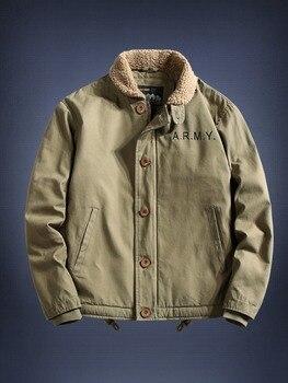 Retro Cotton Bomber Jacket Men Winter Green Mens Bomber Jackets Army Chaqueta Militar Hombre Fall Jacket Men Military Dj HH50JK