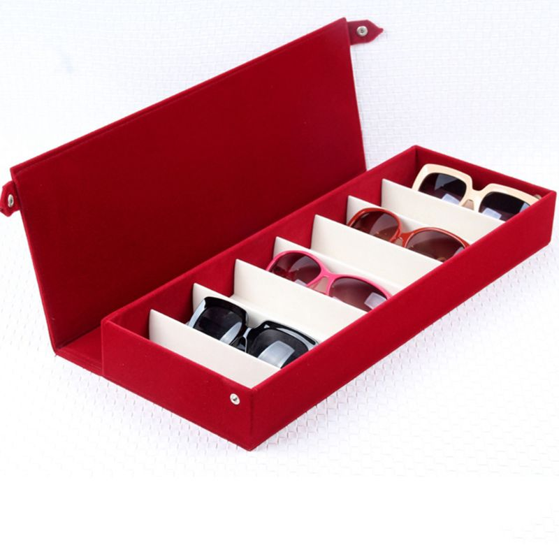 8 Grids Eyeglass Sunglasses Storage Box Display Grid Glasses Stand Case