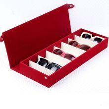 Caja para almacenar lentes de sol, 8 rejillas, soporte para gafas, estuche protector, Organizador