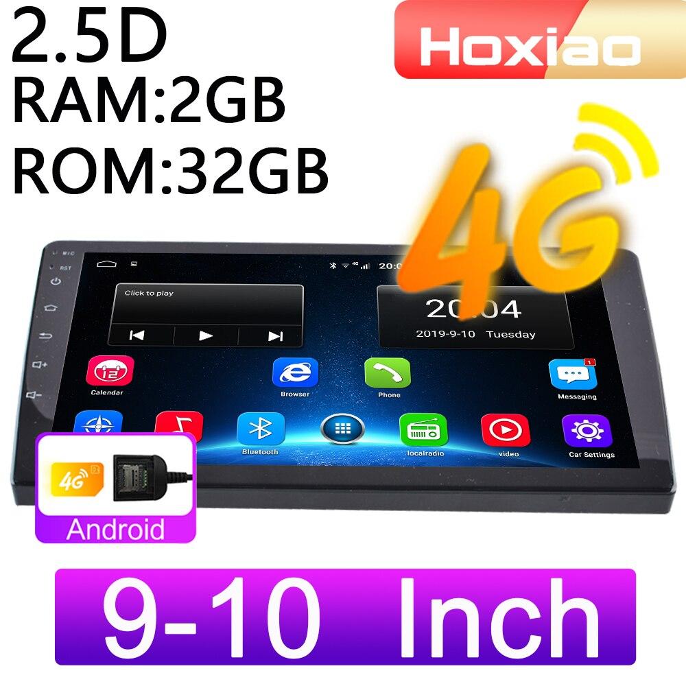 4G Android 8,1 Автомобильный мультимедийный видео плеер 9 дюймов 10 дюймов Mirrorlink 2DIN WiFi RAM 2G ROM 32G навигация GPS 2 Din аудио